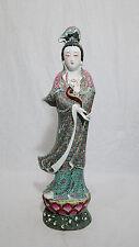 Chinese  Famille  Rose  Porcelain  Kwan-Yin  Figure     M559