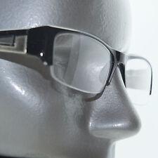 Bold Boss Chunky Black Top Frame Invisible Lens Reading Glasses +1.00 Strength