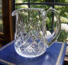 BEAUTIFUL BOXED THOMAS WEBB HAND CUT CRYSTAL GLASS JUG/PITCHER 13.2CM 500ML NIB.