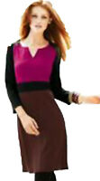 New Womens Pink Black Maroon NEXT Dress Size 12 10 8 6 Petite RRP £38