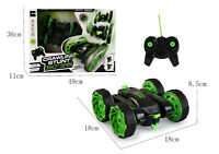 Kids Toy 4WD RC Stunt Car Truck Off-Road Vehicle 2.4G Remote Control Buggy