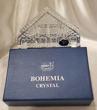 Vintage Bohemia Crystal Napkin Holder Boxed w/Label - Gift