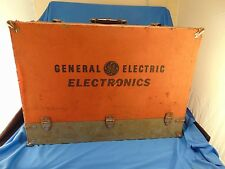 Vtg Box General Electric Electronics repairman's tube caddy wood carrier sample