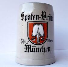 Keramik Krug/ Bierkrug, Spaten-Bräu, MÜNCHEN, um 1900 AL1045