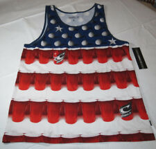 O'Neill Beer Pong Tank Mens L shirt tank top Solo Cups red white blue NWT