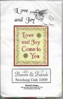Love and Joy 1999 Elizabeth's Designs Cross Stitch Kit w/ Silk Thread & Beads