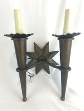 Bruce Eicher Designer Wall Light Candelabra Electric Candle Luminaire 2003 Star