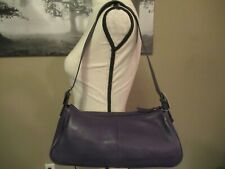 Giani Bernini Vintage Purple Leather Handbag with Accessories