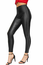 Faux Leather Mid Rise Regular Size Leggings for Women