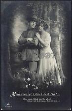 AK Postcard 1917 Army Soldiers Romance Armee Soldaten Woman Feldpost WWI (12)