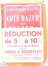 Les guides Nagel: Cote d'Azur et Riviera Italienne 1961 Liguria Costa Azzurra