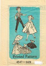 "4547 Vintage Slender Doll Pattern - Size 14"" - Year 1957"