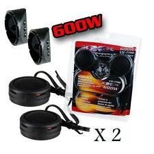 2 Pairs of 600W Super High Frequency Mini Car Tweeters Built-In Crossover
