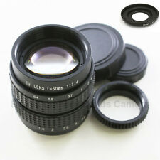 """50mm f/1.4 2/3"""" CCTV lens for Olympus Panasonic Micro 4/3 M43 E-P1 PL3 M5 G1 GF3"""