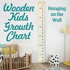Wooden Kids Growth Chart Height Measure F Ruler Children Room Decor Wall Hanging