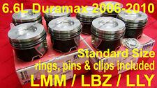 6.6L Duramax Pistons 2006-2010 LMM / LLY / LBZ Standard Size w/ rings Set of 8