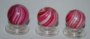 GB***three antique German pink/white onionskin