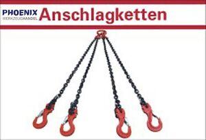 4-Strang Kettengehänge Anschlagkette  Krankette 4,25 + 6,70 to / 1 - 6 Meter
