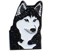 Siberian Husky Alaskan Malamute Eskimos Artic Sled Dog Metal Enamel Badge 25mm