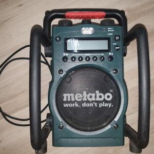 Metabo Baustellenradio 18 14,5 Akkuladefunktion akkugerät radio lipo lion V BS