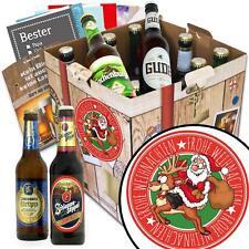 Frohe Weihnachten - Geschenk Set 9x Bierflaschen aus Deutschland 9BBD-Santa