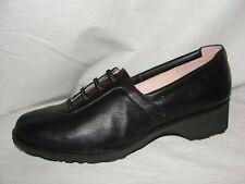 TARYN ROSE Shoes Women's Size 7M Black Leather TAKALA traveler Lace Up Wedges