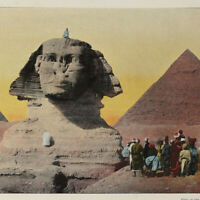 Egypt 1890s Book w/ color photos of Old Cairo Thebes Sphinx Medinet Habu Nile