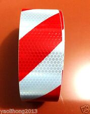 """New listing 2""""x10' 6M 20' Red White Reflective Safety Warning Conspicuity Tape Film Stickers"""