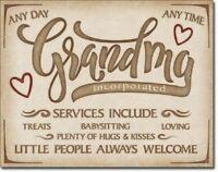 Grandma Inc Metal Tin Sign Wall Art