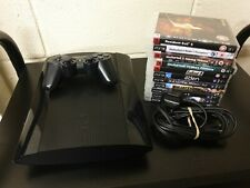Sony Playstation PS3 Super Slim 250Gb + Controller - 11 game bundle