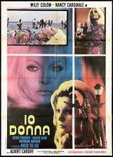 IO DONNA MANIFESTO CINEMA FILM NANCY CARDINALE WILLY COLOM 1972 MOVIE POSTER 2F