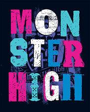 Monster High Uni Couverture polaire/Jeté / polaire Couvre-lit 150x120 NEUF