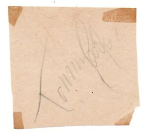 Tommy Cooper Comedy genuine authentic signature signed autograph page