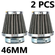 2x 46mm Universal Air Filter Pod Cleaner For Motorcycle ATV Dirt Pit Quad Bike