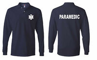 Paramedic Emergency Medical Team Services  Polo Long Sleeve