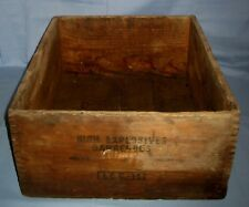 Vtg Dupont High Explosives Wooden Shipping Crate Box W/Dovetailed Corners!