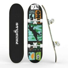 """New listing Kids Trick Complete Skateboard 31""""x 8"""" Double Kick Concave Skateboards Gift Fun"""