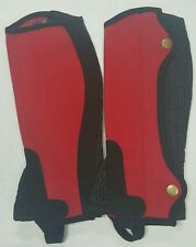 New Horse riding Amara Chaps Red and Black Size 12 Years