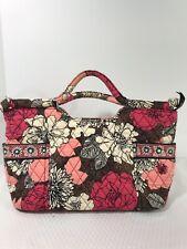 Vera Bradley Mocha Rouge Gabby Bag Purse Handbag Retired Pink