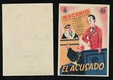 Programa publicitario de cine. EL ACUSADO de Mario Mattoli con Armando Migliari.