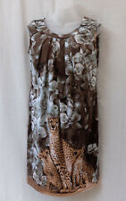 Person-elle Size 12 Leopard Shift Dress NEW Stretch Work Casual Travel