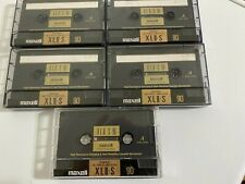 Maxell XLII-S 90 Cassettes Preowned   Qty 5 tapes Made In Japan