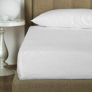 FRETTE HOTEL COTONE KING FITTED SHEET PERCALE LONG STAPLE COTTON WHITE ITALY
