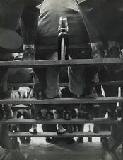 1955 ROBERT DOISNEAU Vintage Spectator Wine Bottle Roanne France Photo Art 16x20