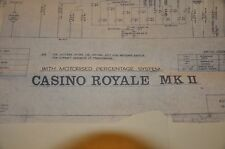 Rare service Information. Casino Royale Mk2 Slot Machine 1969 Fruit Machine.