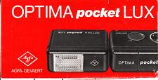 Agfa OPTIMA  Pocket Lux   Beschreibung/Prospekt/Brochure N.B.187