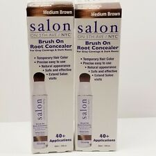 Hair Color Temporary Brush On Medium Brown Root Concealer Set of 2 Salon On 5th