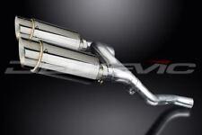 """Delkevic Mini 8"""" Stainless Round Muffler Exhaust - Honda VFR800 V-Tec 2002-2009"""