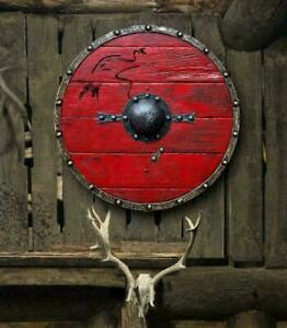 Medieval Ragnar Lothbrok Authentic Battleworn Viking Shield 24 ''