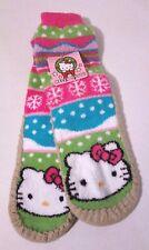 Girls Hello Kitty Winter Christmas Slippers Fleece Slipper Socks S/M Grip Sole